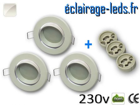 Spots LED Gu10 Blanc naturel orientable Ø 70mm