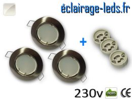 Spots LED GU10 Blanc naturel fixe chrome Ø 60mm