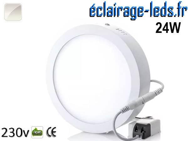 Spot LED 24w blanc naturel 230v