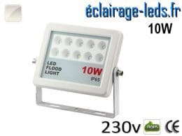Projecteur LED extérieur plat 10W IP65 blanc 230v