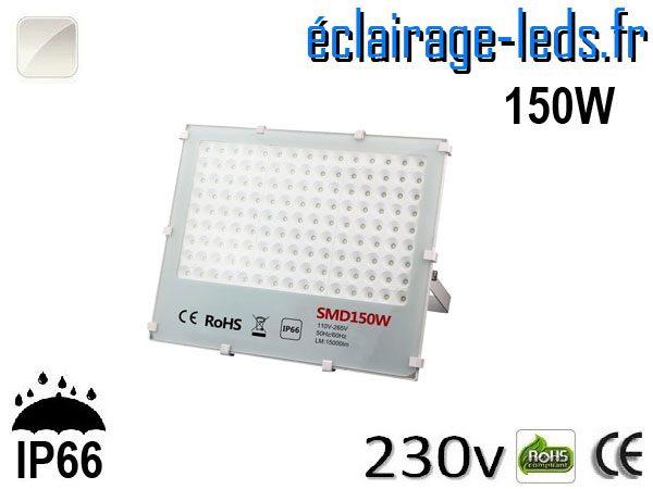 Projecteur LED exterieur Ultra plat 150W IP66 blanc 230v