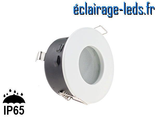 Spot LED encastrable blanc milieu humide IP65