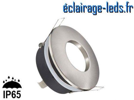 Spot LED encastrable rond alu IP65 perçage 70mm