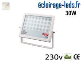Projecteur LED extérieur plat 30W IP65 blanc 230v