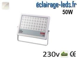 Projecteur LED extérieur plat 50W IP65 blanc 230v