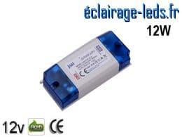 Transformateur LED pour intégration 12V DC 12W