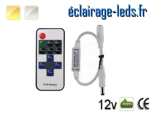 Contrôleur d'intensité bandeau LED 12V monochrome prise jack
