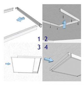 Cadre pour dalle LED