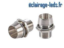 10 Supports en métal pour LED de 5 mm de diamètre