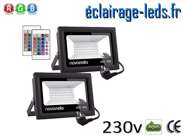 Spots LED 60W RGB extérieur 230v