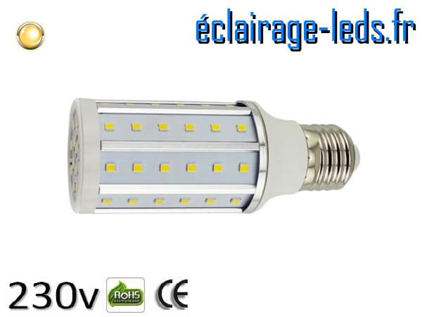 Ampoule led E27 10w SMD 2835 blanc chaud 3000K 230v AC ref A155-1