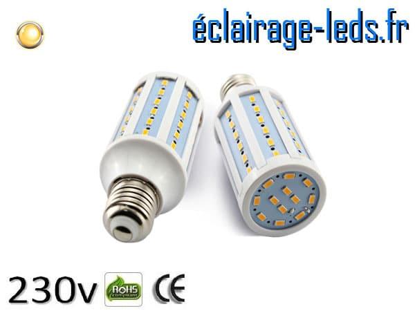 Ampoule led E27 10w SMD 5730 blanc chaud 3000K 230v AC ref A152-1
