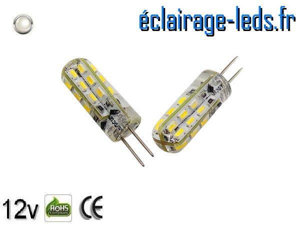 Ampoule led G4 1.5w SMD 3014 blanc 6000K 12v DC ref A195-2