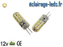 Ampoule led G4 1.5w SMD 3014 blanc chaud 3000K 12v DC ref A195-1