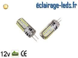 Ampoule led G4 2w SMD 3014 blanc chaud 3000K 12v DC ref A197-1