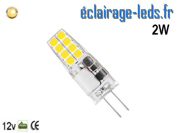 Ampoule led G4 3w SMD 2835 blanc chaud 12v