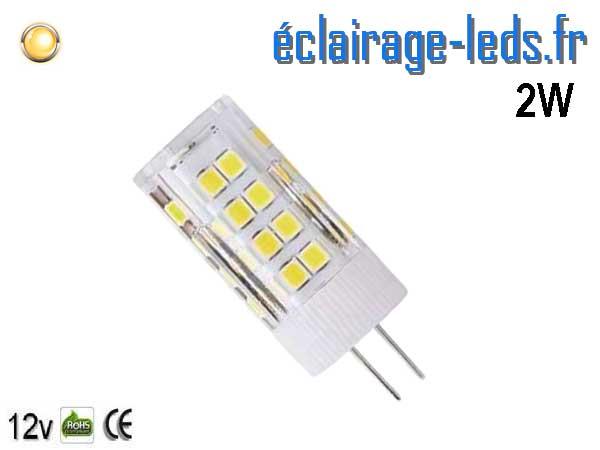 Ampoule led G4 2.5w SMD 2835 blanc chaud 3000K 12v