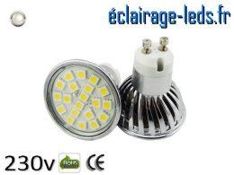 Ampoule led GU10 4w SMD 5050 blanc naturel 4200K