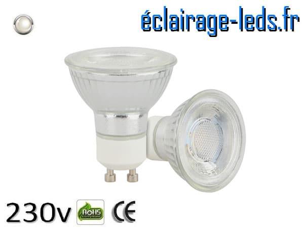 Ampoule led GU10 5w COB blanc naturel 4200K
