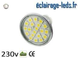 Ampoule led MR16 4w SMD 5050 blanc naturel 4200K 12v DC ref A125-4