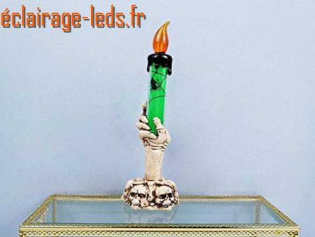 Chandelier LED Orange 21cm décoration Halloween 1