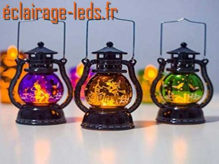 Lanterne LED décoration Halloween 15 cm 1