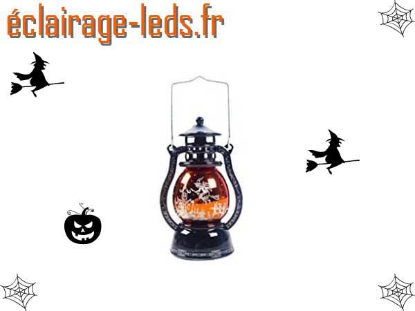 Lanterne LED avec décoration Halloween