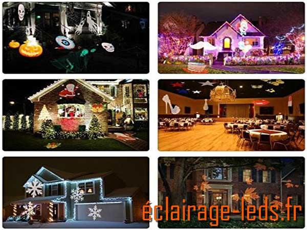 Projecteur LED extérieur ambiance Noël 12 scénarios 1