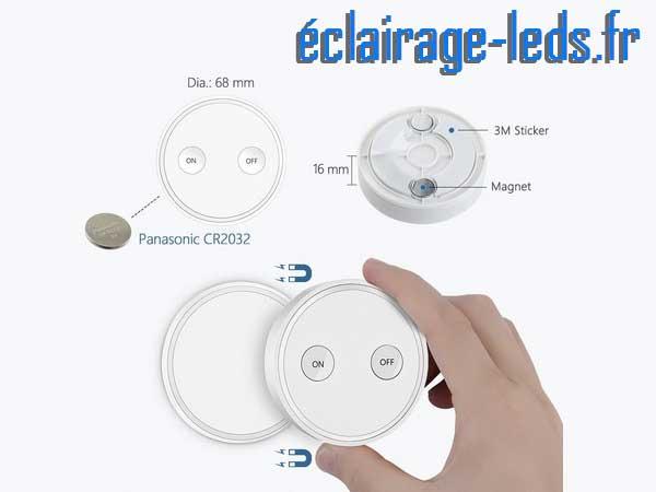 Kit de 2 douilles E27 commandées à distance Max 30w pour ampoules LED 2