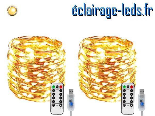 Guirlande LED usb 10m Blanc chaud