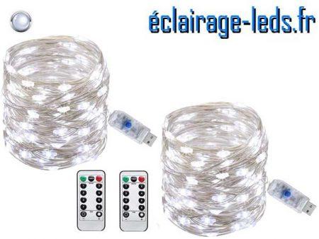Superbe Guirlandes LED usb 10m Blanc telecommande