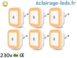 Veilleuses LED crépusculaire Dimmable blanc chaud