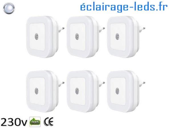 Veilleuses LED crépusculaire Dimmable sur prise