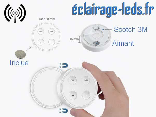 Ampoule led E27 10w température réglable dimmable sans fil 2