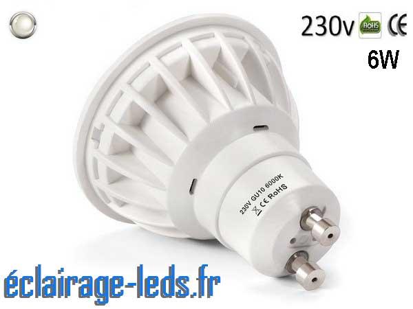 Ampoule led GU10 6W Blanc Naturel 500lm Équiv 50W