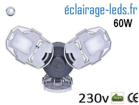 Ampoule led E27 plafonnier 60w SMD blanc 6500K 230v AC 1