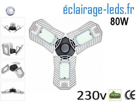 Ampoule led E27 plafonnier 80w SMD blanc 6000K 230v AC 1