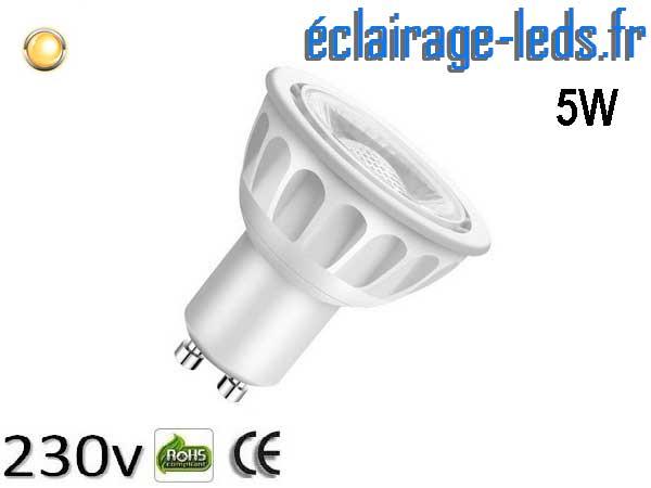 Ampoule led GU10 5W Blanc Chaud 3000K 40° 230v