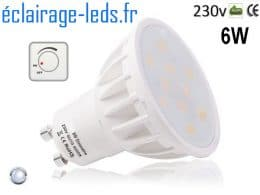 Ampoule led GU10 6W Blanc Froid Dimmable 120°
