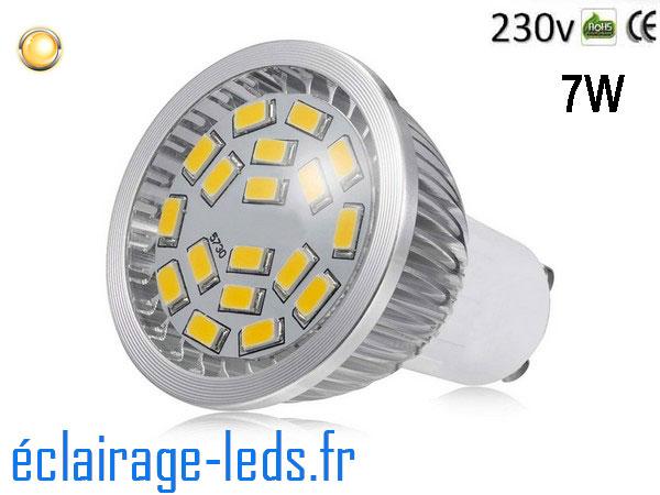 Ampoule led GU10 7W Blanc Chaud 3000K