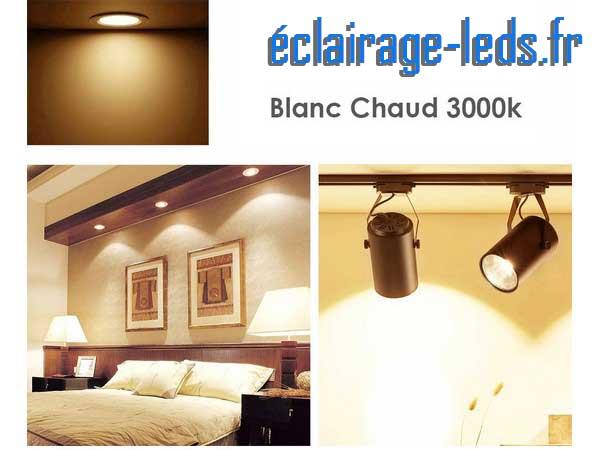 Ampoule led GU10 7W Blanc Chaud 3000K Équiv 60W