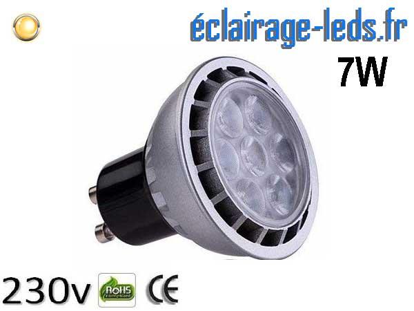 Ampoule led GU10 7W Blanc Chaud 3000K 60° 230v