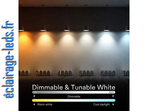 Ampoule LED GU10 Smart Wifi dimmable 6.5w Blanc & 16 million de Couleurs