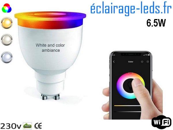 Ampoule LED GU10 Smart Wifi dimmable