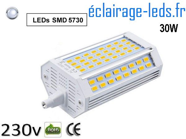 Ampoule led R7S 30w dimmable Blanc 230v