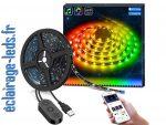 Bandeau LED RGB 2m Rétroéclairage TV avec un Micro Intégré Bluetooth
