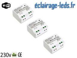 Lot de 3 Interrupteurs sans fil WIFI