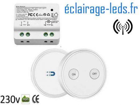 Interrupteur sans fil RF et 1 émetteur