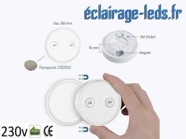 Douille E27 commandée à distance Max 30w pour lampe et ampoule LED 2