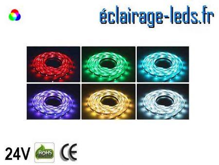 Kit bandeau LED 10m RGB SMD5050 24V DC